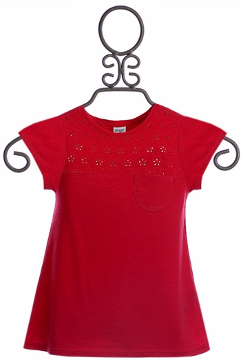 Mayoral Red Short Sleeve Top (Size 2)