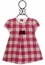 Mayoral Red Holiday Dress for Infants (0-1 Mos & 1-2 Mos)