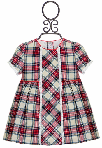 Mayoral Red Plaid Dress for Babies (Size 1-2 Mos)