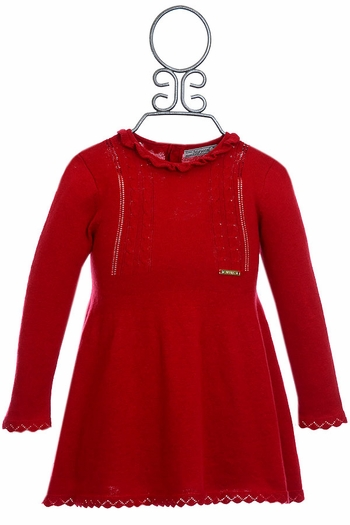 Mayoral Red Sweater Dress for Infants (12Mos & 36Mos)