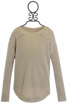 Mayoral Tween Boutique Sweater in Tan (Size 12)