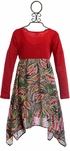 Mimi and Maggie Girls Paisley Dress with Flowers (Size 4) Alternate View