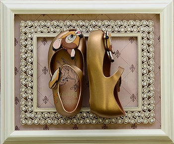 Mini Melissa Bambi Shoe in Gold (6,8,9,10,11,12)