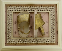 Mini Melissa Beach Sandal Gold Glitter (7 & 12)