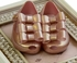 Mini Melissa Metallic Pink Triple Bow Shoe (5,6,7,8,9,10) Alternate View #2