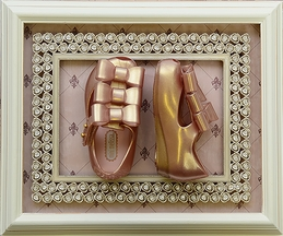 Mini Melissa Metallic Pink Triple Bow Shoe (5,6,7,8,9,10)