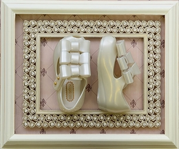 Mini Melissa Ultragirl Triple Bow Show Pearl (5 & 9)
