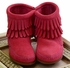 Minnetonka Fringe Bootie Hot Pink Kids (7,9,2Y, 4Y) Alternate View
