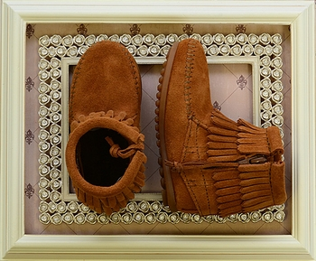 Minnetonka Girls Double Fringe Bootie (2Y & 3Y)