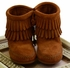 Minnetonka Girls Double Fringe Bootie (2Y & 3Y) Alternate View