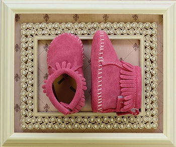 Minnetonka Infant Bootie Hot Pink Suede (Sizes Infant 0 to 3)