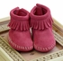 Minnetonka Infant Bootie Hot Pink Suede Alternate View