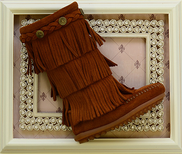 Minnetonka Tall Fringe Boots for Girls