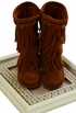 Minnetonka Tall Fringe Boots for Girls (11,12,4Y) Alternate View