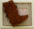 Minnetonka Tall Fringe Boots for Girls (11,12,4Y) Alternate View #2