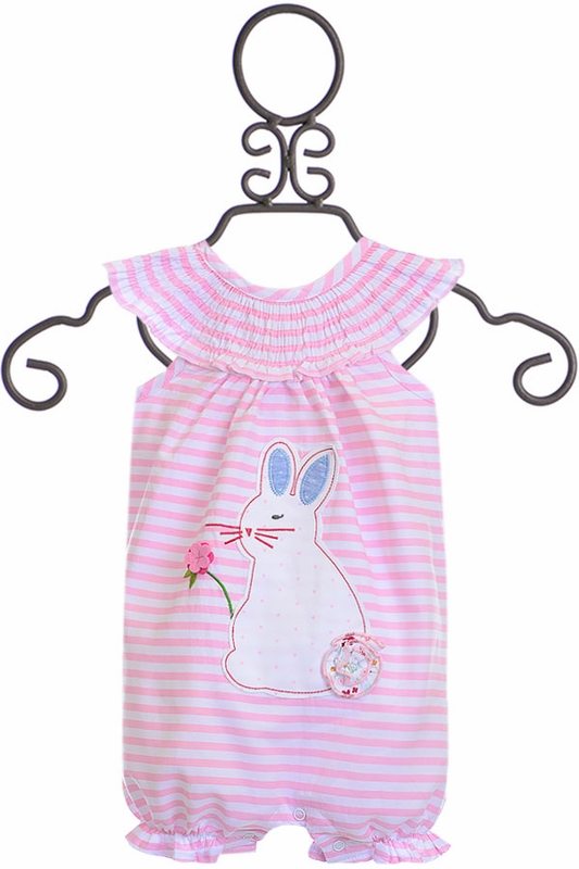 For Girls Mud Pie Bunny Bubble Romper Buy It Here On Sale