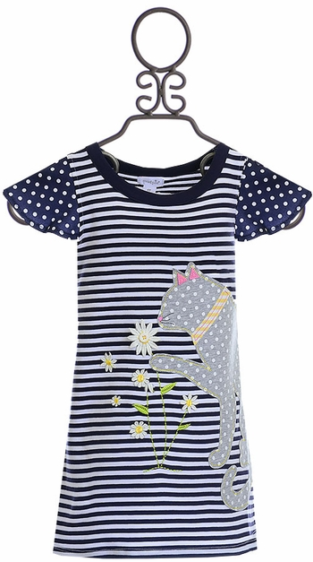 Mud Pie Daisy Cat T-Shirt Dress SOLD OUT
