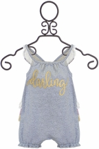 Mud Pie Darling Ruffle Bubble (Size 9-12Mos)