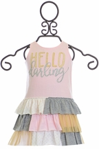 Mud Pie Hello Darling Ruffle Dress (Size 12-18Mos)