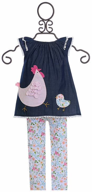 Mud Pie Hen and Chick Tunic and Leggings Set SOLD OUT