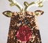 Mud Pie Holiday Sequin Tote for Girls with Reindeer Alternate View #2
