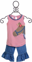 Mud Pie Horse Tunic and Capri Set (3T & 5T)