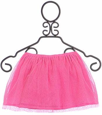 Mud Pie Pink Mesh Skirt and Bloomers (Size LG 4T/5T)