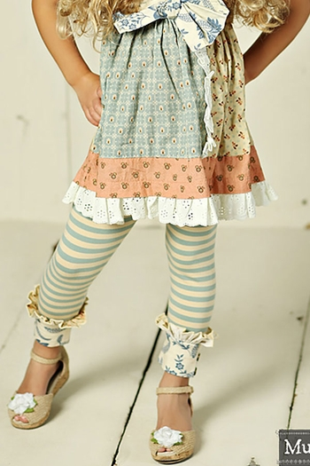 Mustard Pie Amber Fields Antique Blue Legging SOLD OUT
