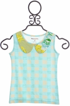 Mustard Pie Apple Blossom Aqua Izzy Tunic (18Mos,4,5)