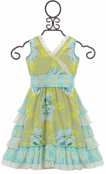 Mustard Pie Enchanted Dress Apple Blossom (Size 18Mos)