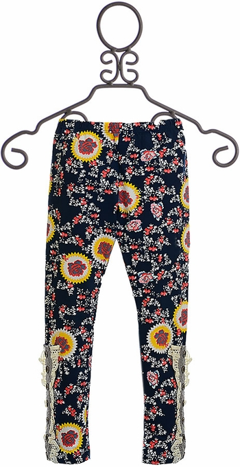 Mustard Pie Jeweled Forest Leggings Sargent (12Mos,2T,4T,4)