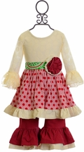 Mustard Pie Mystic Evergreen Olivia Dress Set (Size 3Mos)
