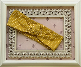 Mustard Pie Picnic Lunch Gidget Headband (Size Infant)
