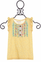 Mustard Pie Sweet Pea Gracie Top (Size 12Mos)