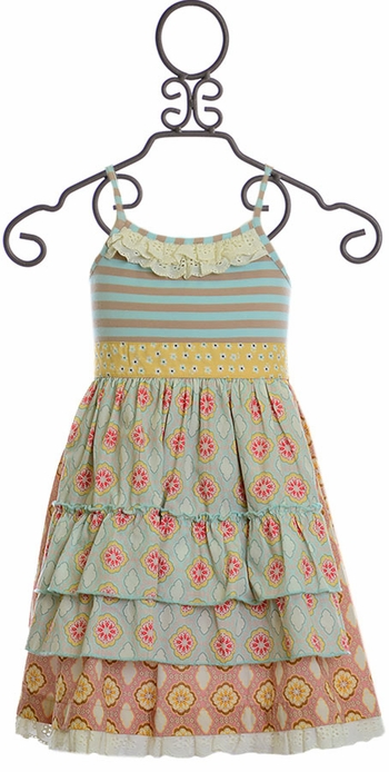 Mustard Pie Sweet Pea Mae Apron Dress (Size 3T)