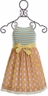 Mustard Pie Sweet Pea Mae Apron Dress (Size 3T) Alternate View
