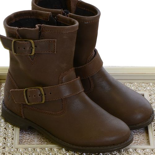 Old Soles Girls Highlander Brown Boots (Size 4 Youth)