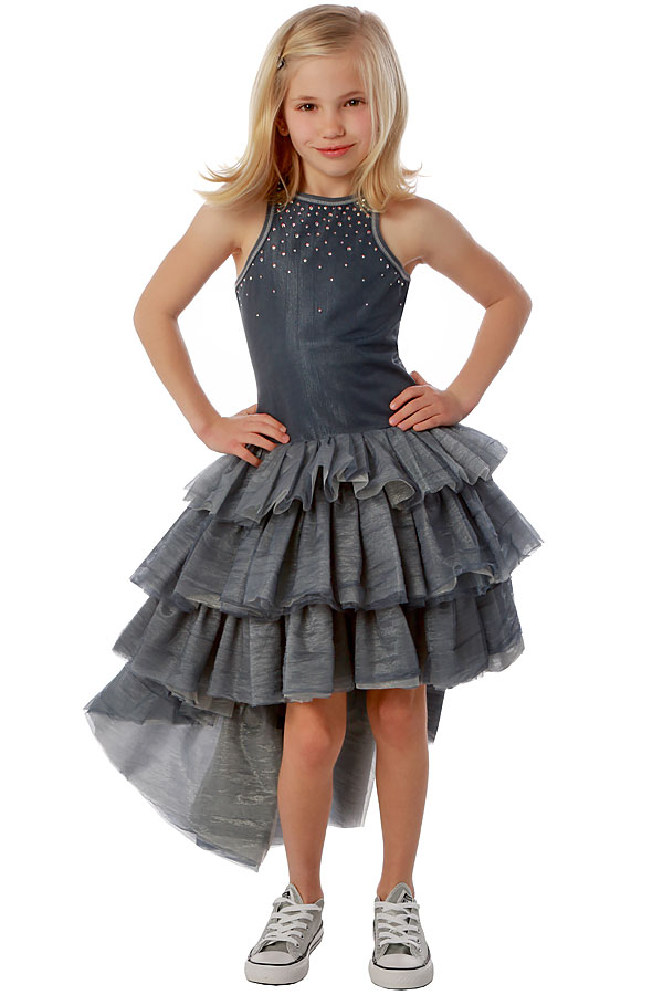 Ooh la la couture chloe dress in silver preorder for La couture clothing
