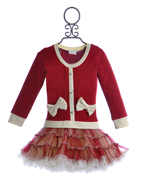 Ooh la la couture christmas ho ho dress for girls size 24 for La couture clothing