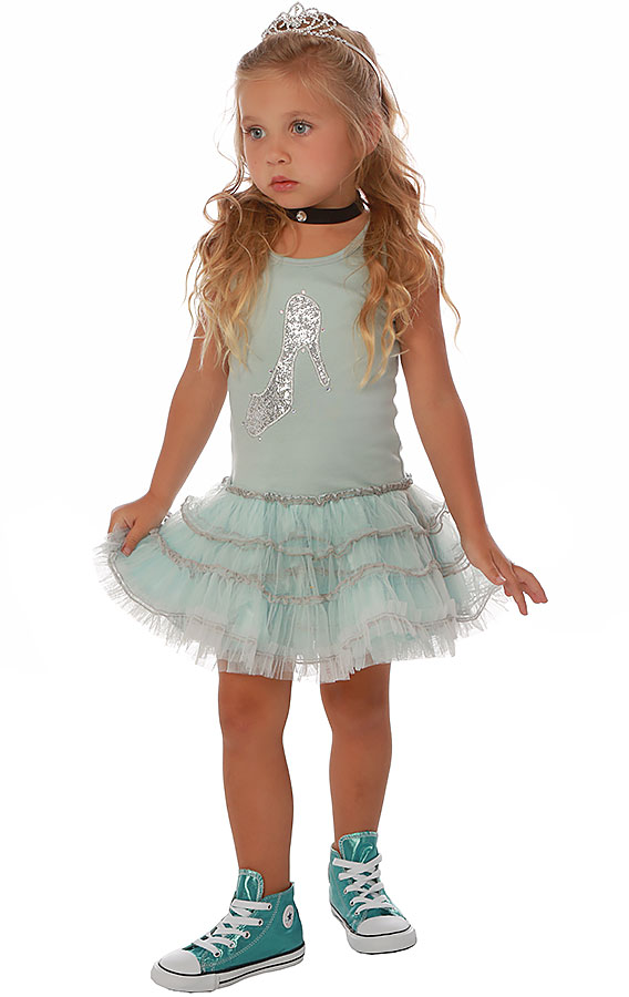Ooh la la couture crystal slipper dress preorder for La couture clothing