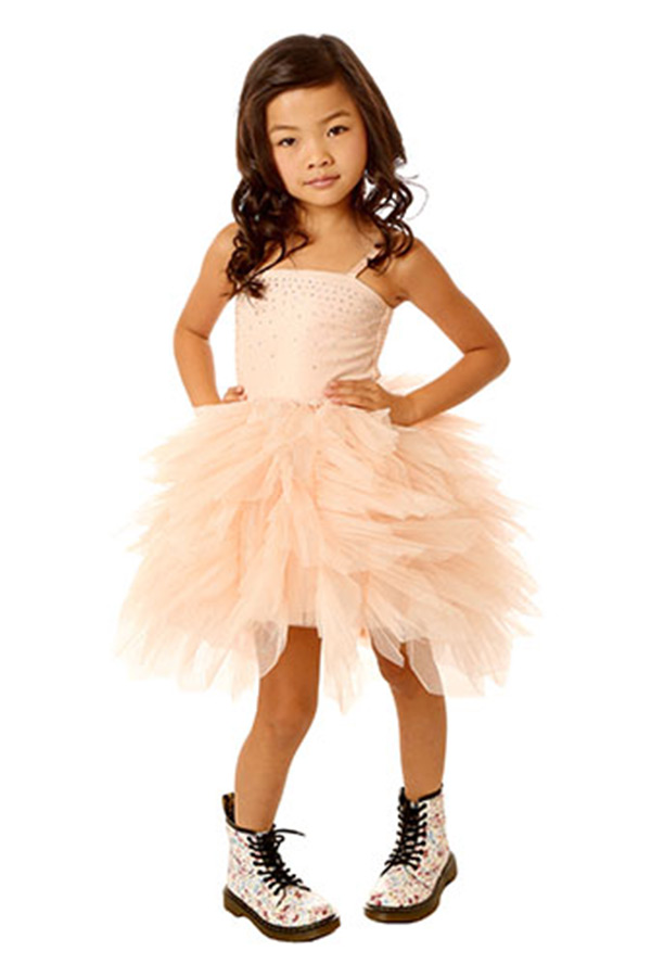 Ooh la la couture devin high low dress pink champagne wow for High couture dresses