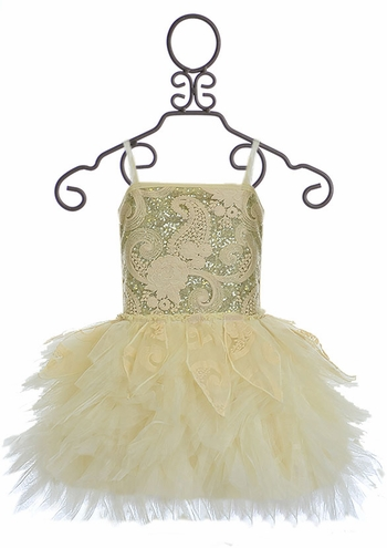 Ooh La La Couture Emma Dress Champagne (6X/7,10,12)