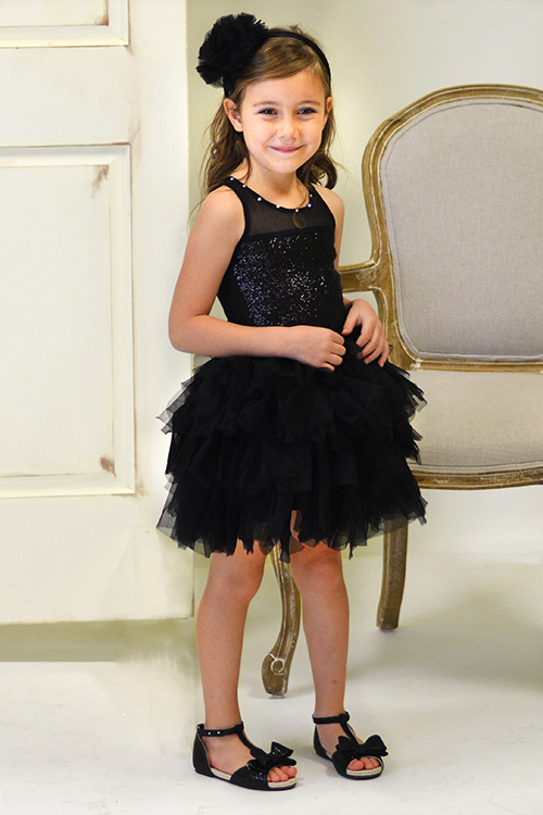 Ooh la la couture girls sequin tutu dress in black for La couture clothing