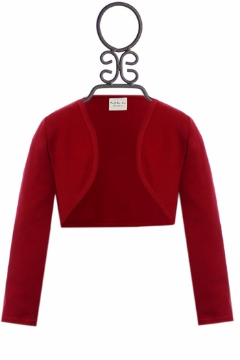 Ooh La La Couture Girls Shrug in Red (12Mos,18Mos,3T,4)