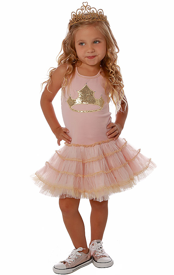 Ooh La La Couture Princess Crown Dress in Pink|In Stock