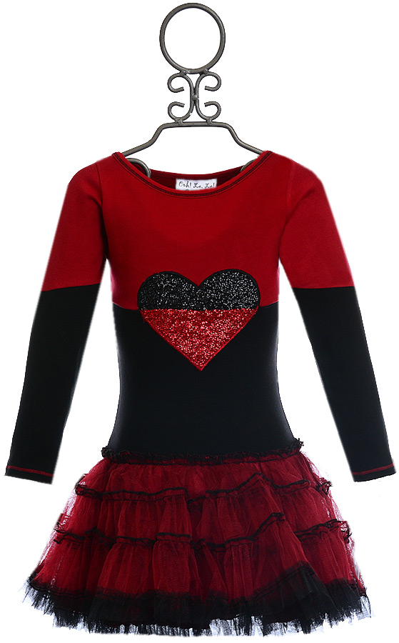 Ooh la la couture split heart dress 2t 3t 4 6 6x 7 on sale for La couture clothing