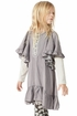 Paper Wings Designer Smock Dress in Gray (4,5,6) Alternate View #3