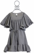 Paper Wings Designer Smock Dress in Gray (4,5,6) Alternate View
