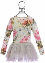 Paper Wings Vintage Rose Leotard for Girls (2,8,10)
