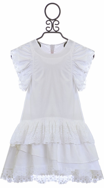 Paper Wings White Dress with Eyelet (2,3,5)